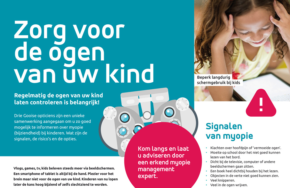 Myopie campagne van 3 Gooise opticiens
